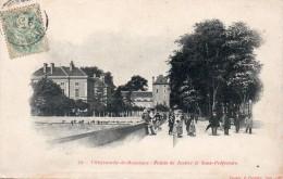 12 Villefranche De Rouergue Palais De Justice Et Sous Prefecture Animée Carte Precurseur - Villefranche De Rouergue
