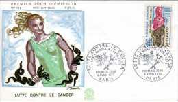 FDC HISTORIQUE  Premier Jour D Emission - LUTTE CONTRE LE CANCER  1970 -  Journée Mondial 7 Avril - Maladies
