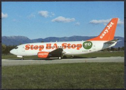 Carte Postale - Boeing 737-33 V - EasyJet - Genève 11/1998 - Neuve - 1946-....: Ere Moderne