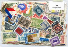 500 Timbres Thème Europe Ouest - Vrac (max 999 Timbres)