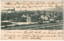 67 - SAVERNE - Gruss Aus ZABERN - 1899 - Voies Ferrées - Gare - Saverne