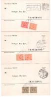 3 CARTES POSTALES AVEC TIMBRES-TAXE - Danemark