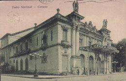 Ecuador PPC Teatro Nacional - Caracas 1924 To BUENOS AIRES Simon Bolivar Stamps (2 Scans) - Ecuador