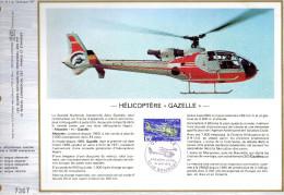 Feuillet Tirage Limité CEF 313 Hélicoptère Gazelle - Autres