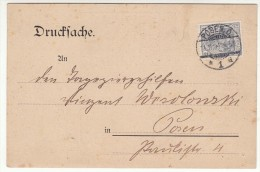 POLAND / GERMAN ANNEXATION 1904  POSTCARD  SENT FROM  POZNAN - ....-1919 Übergangsregierung
