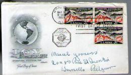 Etats Unis USA FDC 1er Jour Lettre Cover CAD Chicago 31-05-1958 / Bloc 3 Tp - Géophysique Geophysical Year - Premiers Jours (FDC)