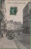 35 FOUGERES - Rue Nationale Eet Place Du Théatre - Fougeres