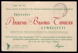 1947 Postal Comercial LABORATORIOS LEPORI Farmaceutica Barcelona / Lisboa PORTUGAL - Machine Stamps (ATM)