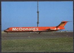 Carte Postale - Douglas MD-86 - Crossair - Prague 04/1996 - Neuve - 1946-....: Moderne