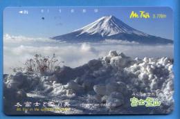 Japan Japon Télécarte Telefonkarte Phonecard - Mountain Berg Vulkan Volcan Mount Fuji - Volcans