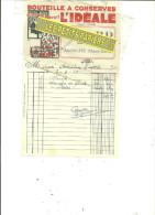 70 - Haute-saône - AILLEVILLERS - Facture PICARD - Quincaillerie – 1942 - Non Classés