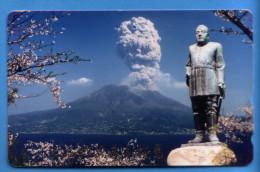 Japan Japon Télécarte Telefonkarte Phonecard - Mountain Berg Vulkan Volcan - Volcans