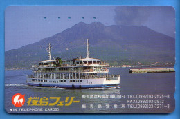 Japan Japon Télécarte Telefonkarte Phonecard - Mountain Berg Vulkan Volcan - Vulcani