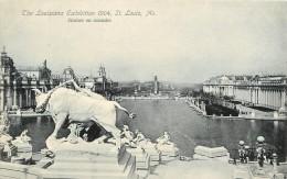 SAINT LOUIS        LOUISIANA  EXHIBITION 1904   STATUES EN CASCADES - St Louis – Missouri