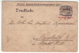 POLAND / GERMAN ANNEXATION 1907  POSTCARD  SENT FROM  POZNAN - ....-1919 Übergangsregierung