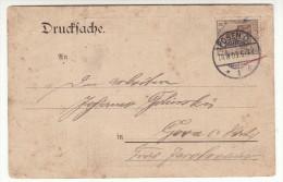POLAND / GERMAN ANNEXATION 1903  POSTCARD  SENT FROM  POZNAN - ....-1919 Übergangsregierung