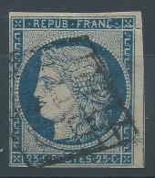 Lot N°25224    N°4a Bleu Foncé, Oblit Grille De 1849 - 1849-1850 Ceres