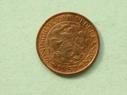 1937 - 1 CENT / KM 152 ( Uncleaned Coin / For Grade, Please See Photo ) !! - 1 Cent