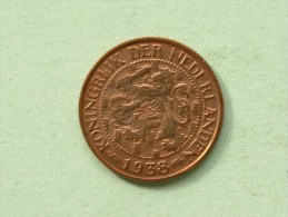 1938 - 1 CENT / KM 152 ( Uncleaned Coin / For Grade, Please See Photo ) !! - [ 3] 1815-…: Königreich Der Niederlande