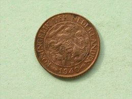 1940 - 1 CENT / KM 152 ( Uncleaned Coin / For Grade, Please See Photo ) !! - 1 Cent