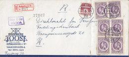 Denmark BRØDR. JOOST Registered Einschreiben KØBENHAVN (21.) Label 1946 Cover Brief GEBYR 20 ØRE INDBEFATTET Line Cds. - 1913-47 (Christian X)