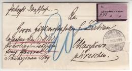 POLAND / GERMAN ANNEXATION 1900 L ETTER  SENT FROM  CZERNIEJEWO TO WRZESNIA - ....-1919 Übergangsregierung