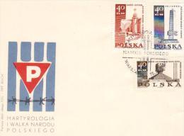 Polonia FDC 1968 - Martirologia I Walca Narodu Polskiego - FDC