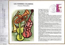 Feuillet Tirage Limité  CEF 282 Les Hommes Célébres Francis Poulenc Compositeur Musique - Other