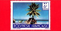 POLINESIA FRANCESE - 1979 - Usato  - 1979 - Paesaggi - Turismo - Case Au Tuamotu - 6 - Usati