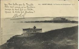 SAINT MALO . LE TOMBEAU DE CHATEAUBRIAND  . ET POEME DE BOTREL - Saint Malo