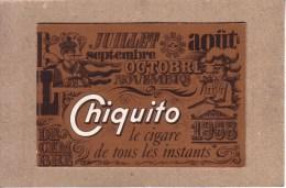 CALENDRIERS - TABAC - CALENDRIER 1968 - CHIQUITO , LE CIGARE DE TOUS LES INSTANTS - 109 X 75 Mm - Documenti