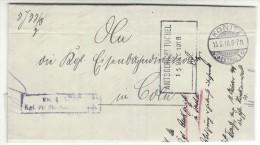 POLAND / GERMAN ANNEXATION 1918 L ETTER  SENT FROM  CHOJNICE TO COLN - ....-1919 Übergangsregierung