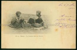 Biskra Enfants La Lessive Dans Le Desert Arnold VOLLENWEIDER Photographe - Biskra