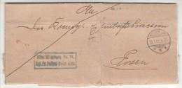 POLAND / GERMAN ANNEXATION 1901 L ETTER  SENT FROM  MILOSLAW TO POZNAN - ....-1919 Übergangsregierung