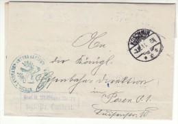 POLAND / GERMAN ANNEXATION 1917 L ETTER  SENT FROM  KOZMIN TO POZNAN - ....-1919 Übergangsregierung