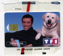 Télécarte Cinq Unites TF1 Bernard Montiel NSB (lot 20) - Tarjetas Telefónicas