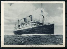 """CPSM S/w  AK German Empires,DR Norddeutscher Lloyd """"Dampfer Berlin """" 1 AK Blanco - Steamers"""