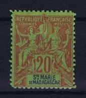 St. Marie De Madagascar: Yv Nr 7 MNH/**  Fournier Forgery - Ungebraucht