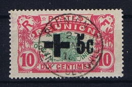 Reunion 1915-1916  Yv. 80 I Maury 79  Used/obl, SURCHARGE NOIR, Signed/signé/signiert/ Approvato - Réunion (1852-1975)