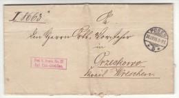 POLAND / GERMAN ANNEXATION 1898  LETTER  SENT FROM  POZNAN TO ORZECHOWO - ....-1919 Übergangsregierung