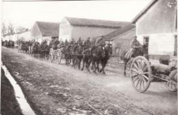 Photo Février 1916 SAINT-GERMAIN-LA-VILLE (près Marson) - Traversée De L'artillerie Française, Canons (A60, Ww1, Wk1) - Non Classés