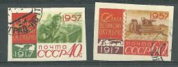 La Russie Non-dentelé Oblitérérs No: 1988 à 1989, Y & T, USED, IMPERFORATED - Oblitérés