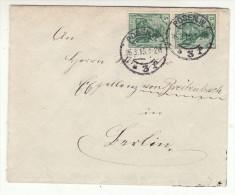 POLAND / GERMAN ANNEXATION 1915  LETTER  SENT FROM  POZNAN - ....-1919 Übergangsregierung