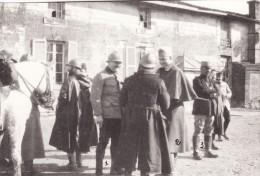 Photo Février 1916 SAINT-GERMAIN-LA-VILLE (près Marson) - Lieut. Blais, Fleutray, Cdt Pajos (A60, Ww1, Wk1) - Non Classés