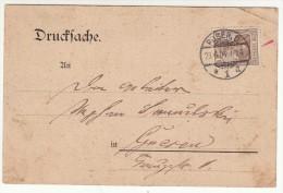 POLAND / GERMAN ANNEXATION 1904  POSTCARD  SENT FROM  POZNAN TO GNIEZNO - ....-1919 Übergangsregierung