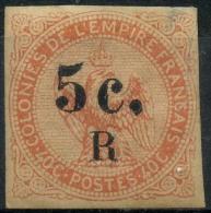 Reunion (1885) N 3 * (charniere) Signé Scheller, Leger Clair - Unused Stamps