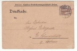 POLAND / GERMAN ANNEXATION 1905  POSTCARD  SENT FROM  POZNAN - ....-1919 Übergangsregierung
