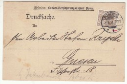 POLAND / GERMAN ANNEXATION 1911  POSTCARD  SENT FROM  POZNAN TO GNIEZNO - ....-1919 Übergangsregierung