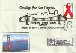USA. Le Golden Gate Bridge, San Francisco, Une Enveloppe Souvenir - Ponti