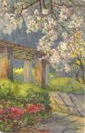 Reproduction D'une Peinture. Le Jardin De Cimiez. Signé Gisan Durek (?). - Monumenten, Gebouwen
